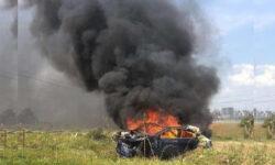 Сгоревшая при аварии Tesla Model 3 поставила под сомнение безопасность электрокаров