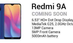 Xiaomi Redmi 9A может стать первым смартфоном на чипе MediaTek Helio G25