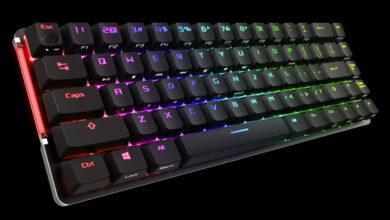 Фото Беспроводная игровая клавиатура ASUS ROG Falchion имеет компактное исполнение