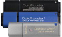 Kingston представила USB-накопители с шифрованием вместимостью 128 Гбайт