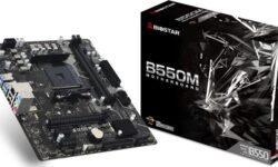 Плата Biostar B550MH поддерживает SSD-накопители М.2 PCIe 4.0 x4