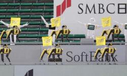 Видео: танцующие робособаки Boston Dynamics заменили болельщиков на бейсбольном матче в Токио