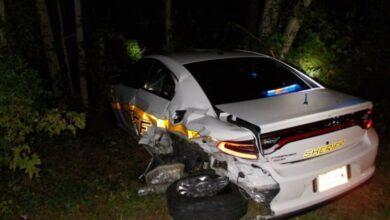 Фото Автомобиль Tesla с автопилотом протаранил полицейский автомобиль. Как это произошло?