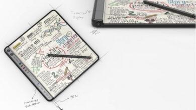 Фото Huawei запатентовала необычный складной смартфон со стилусом