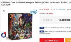 Intel подготовила специальную серию процессоров Avengers Edition, они скоро поступят в продажу