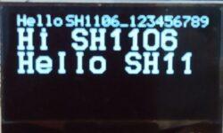[Из песочницы] Вывод текста на OLED дисплей с контроллером SH1106 по шине SPI через библиотеку HAL