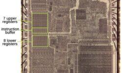 [Перевод] Регистры процессора Intel 8086: от чипа к транзисторам