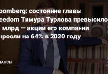 Фото Bloomberg: состояние главы Freedom Тимура Турлова превысило $1 млрд — акции его компании выросли на 64% в 2020 году