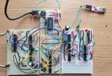 Фото [Перевод] Трансивер UART для 8-битного компьютера на макетной плате
