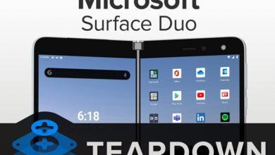 Фото Смартфон-книжку Microsoft Surface Duo практически невозможно отремонтировать