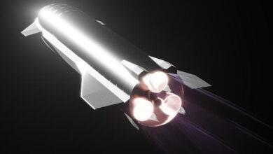 Фото Видео: SpaceX впервые провела огневые испытания вакуумной версии двигателя Raptor для Starship