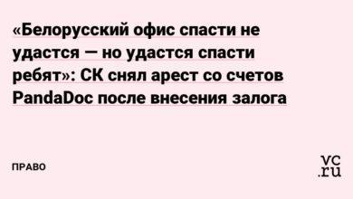 Фото «Белорусский офис спасти не удастся — но удастся спасти ребят»: СК снял арест со счетов PandaDoc после внесения залога