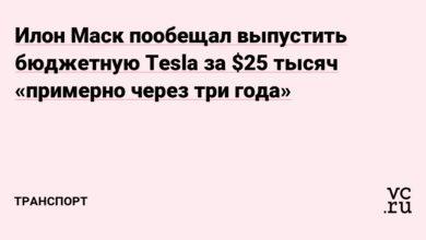 Фото Илон Маск пообещал выпустить бюджетную Tesla за $25 тысяч «примерно через три года»