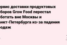 Фото Сервис доставки продуктовых наборов Grow Food перестал работать вне Москвы и Санкт-Петербурга из-за падения продаж