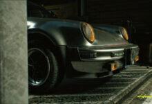 Фото Видео: создатели Cyberpunk 2077 показали доступный в игре транспорт, включаяPorsche Джонни Сильверхенда