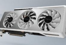 Фото Видеокарты GIGABYTE серии GeForce RTX 3000 Vision получили оригинальное исполнение